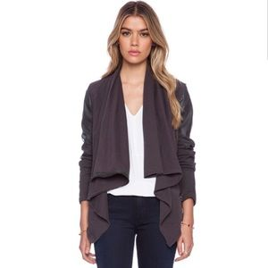 BLANKNYC Drape Jacket in Charcoal